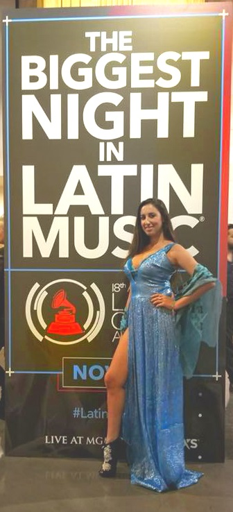 Pamela Quinzi at the Latin Grammy...