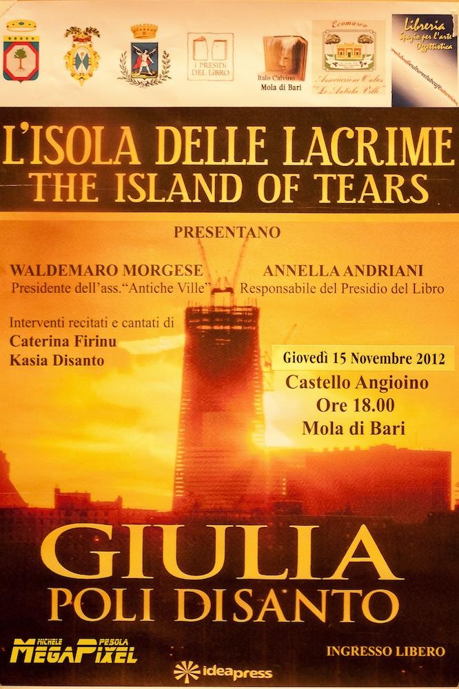 """""""L'isola delle lacrime"""". Il nuovo libro di Giulia Poli Disanto"""