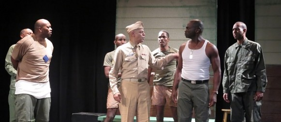 """Bang Bang. STAGE REVIEW:  """"A Soldier's Play"""" by Charles Fuller"""