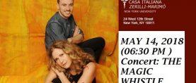 Il Fischio Magico di Elena Somare` alla Casa Italiana Zerilli Marimo` il 14 maggio