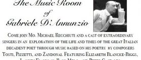 The Music Room of Gabriele D'Annunzio in New York City