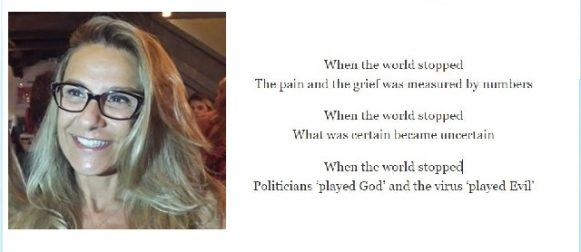 When The World Stopped; a poem by Claudia Lorenzetti Martins