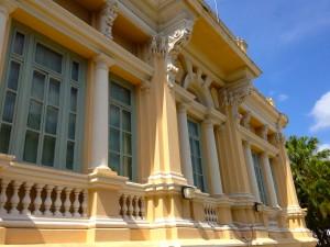 El anexo sur del Palacio no estaba en el plano original, sin embargo esta bellamente adornado.