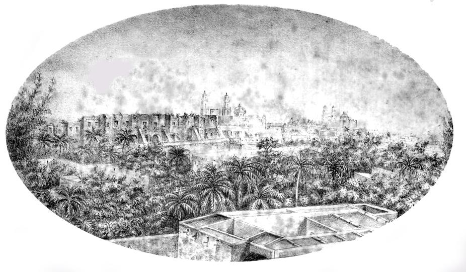 Mérida en 1861.