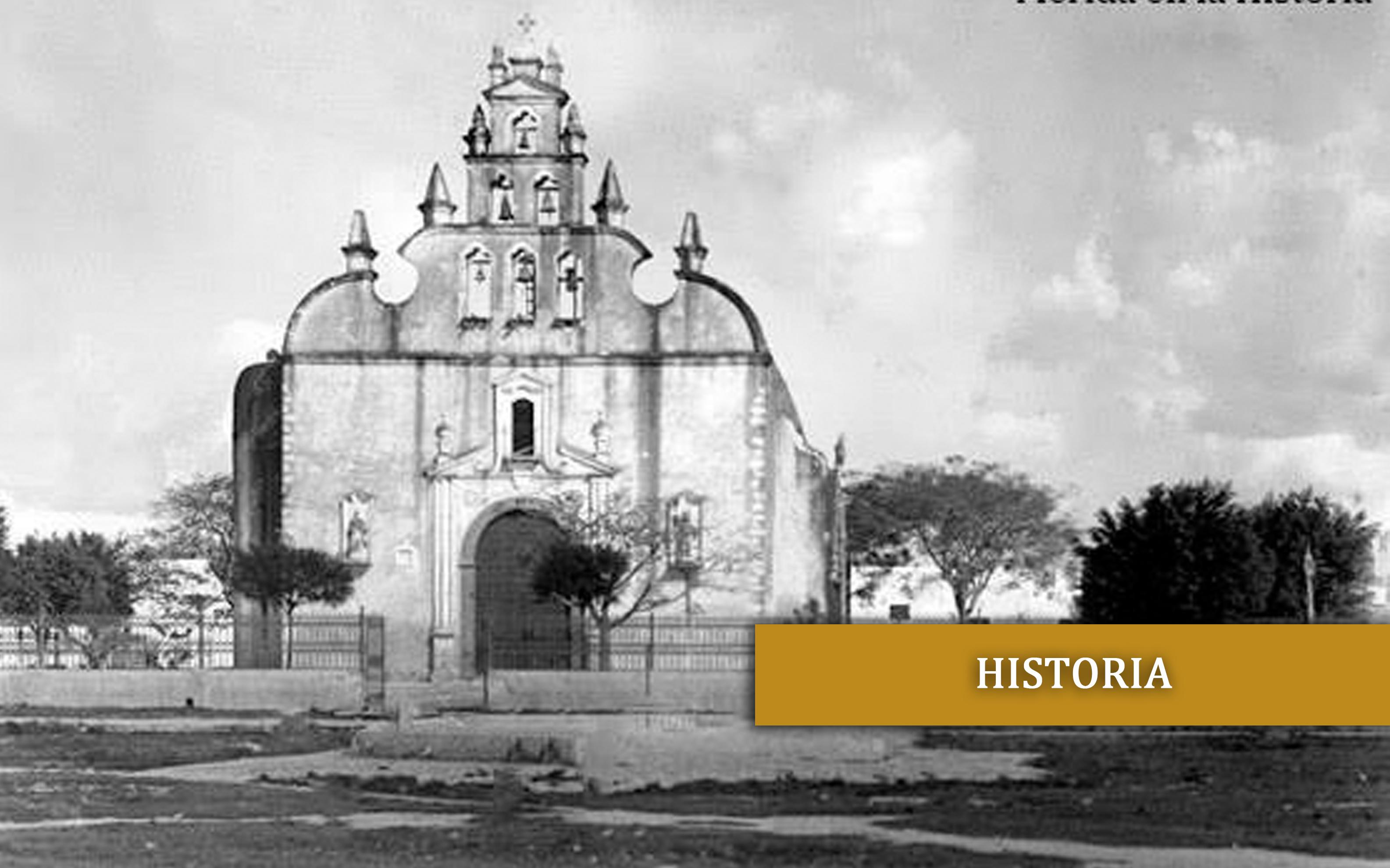 Fotografía de la iglesia parroquial a finales del siglo XIX