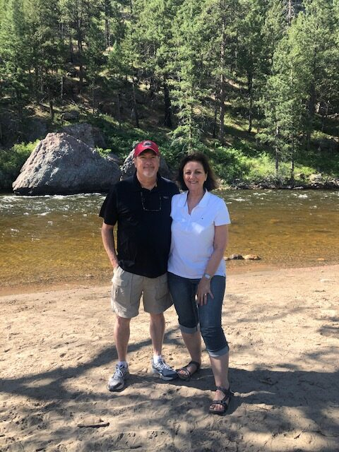 Beth and Alan Brockette on the Cache la Poudre River