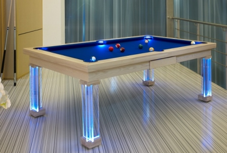 Monaco convertible pool dining fusion billiard table by Vision Billiards