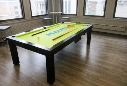 Convertible dining pool fusion table Toledo by Vision Billiards small