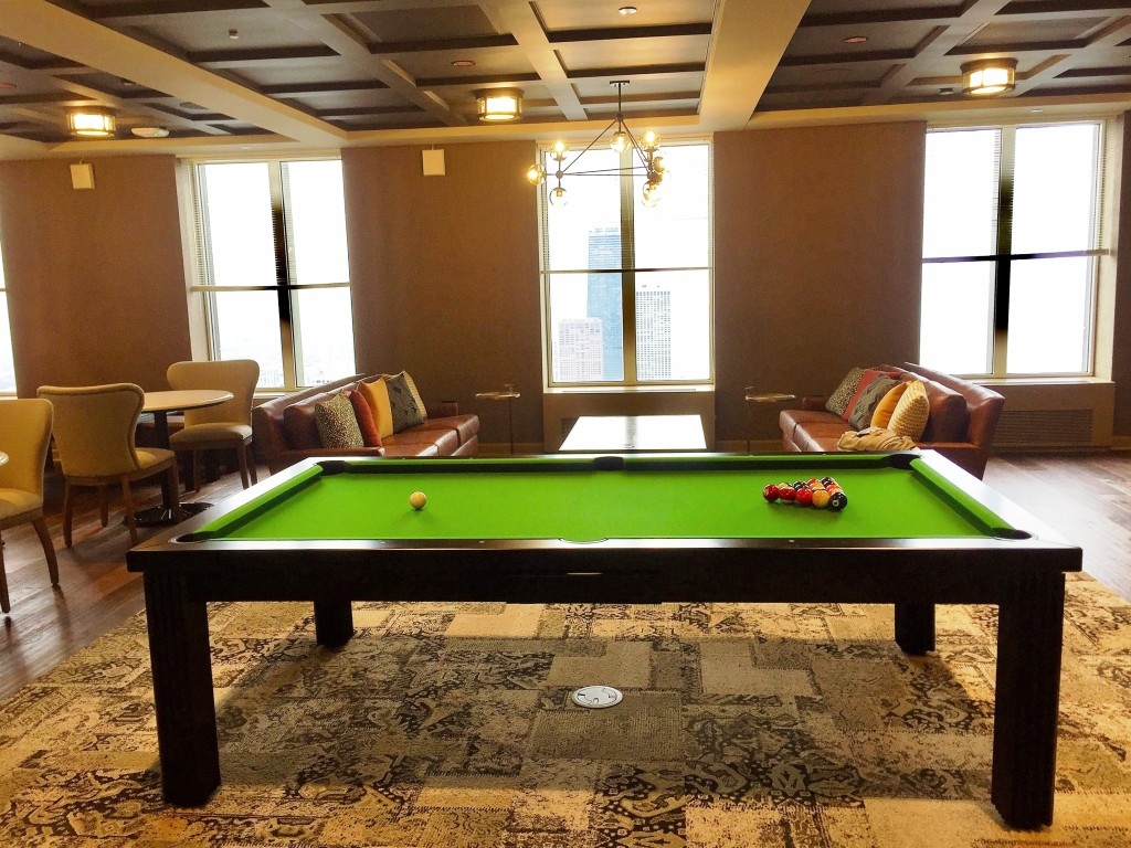 Convertible dining pool fusion table Toledo by Vision Billiards Downtown Chicago