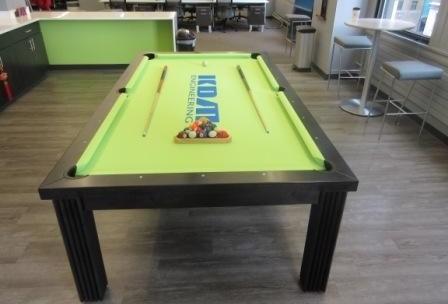 Convertible dining pool fusion table Toledo by Vision Billiards custom felt