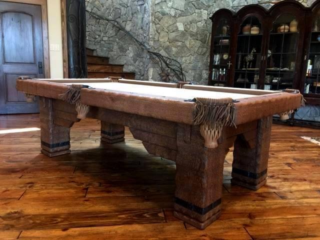 Wild West Rustic Pool Table, Texas