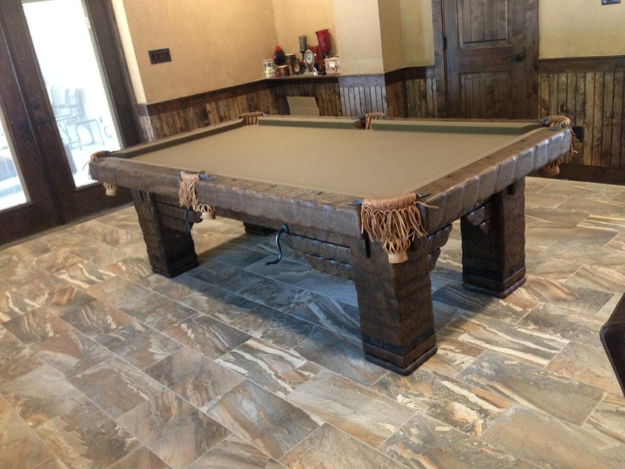 Wild West Rustic Pool Table, Minnesota