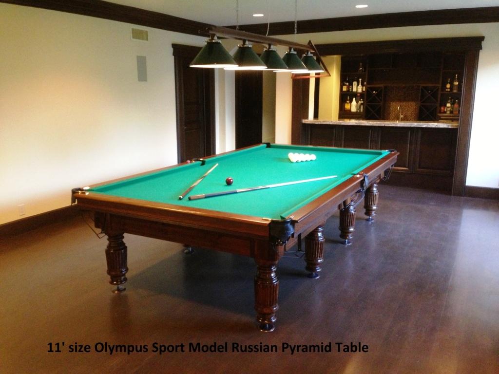 11' Russian Pyramid billiard table Olympus