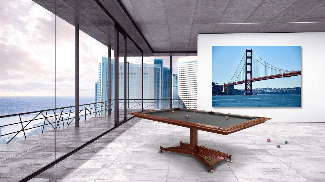 "Industrial Modern Billiard Table DECOTECH in ""Rust"" finish"