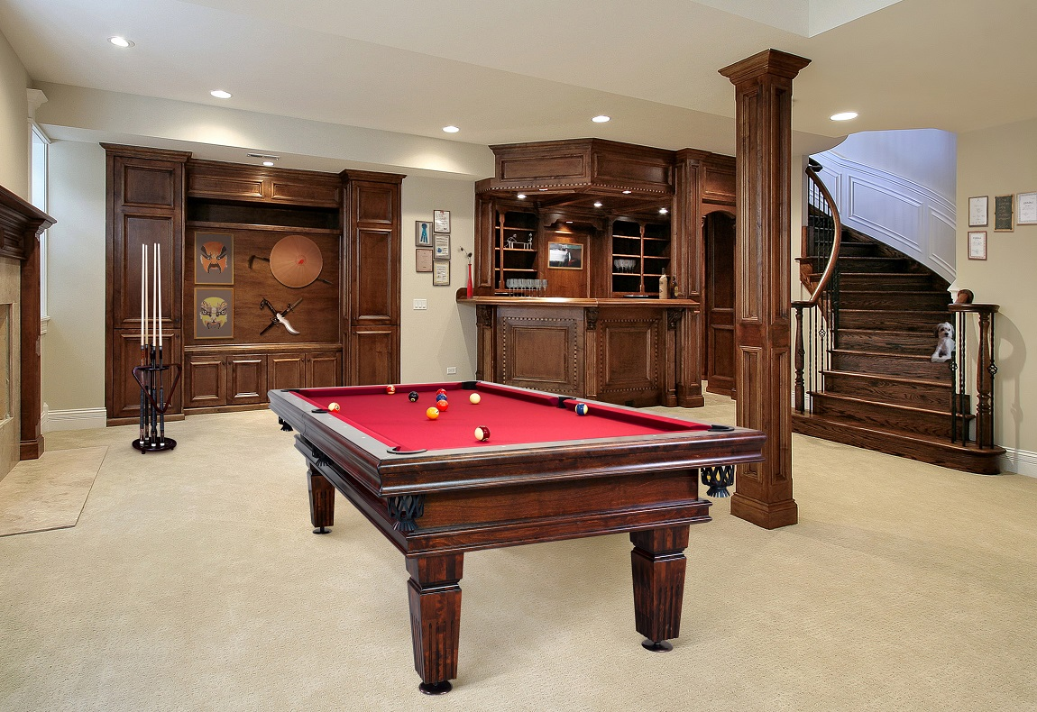 Poseidon professional pool table Vision Billiards mahogany