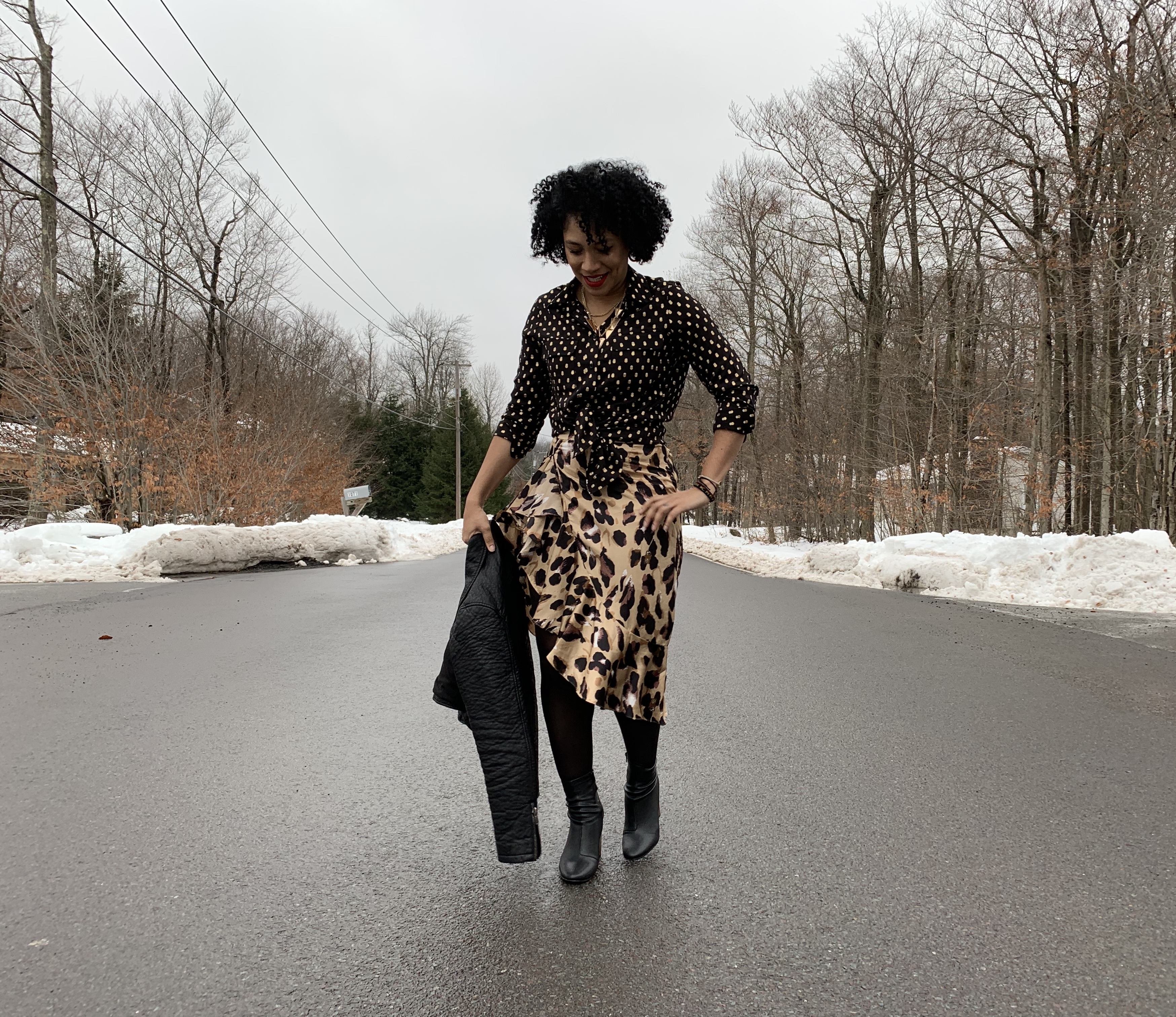 So Fierce Leopard Skirt