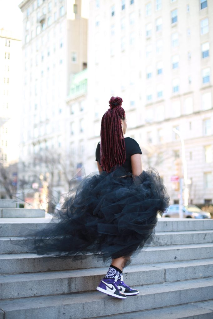 Tulle Skirt & Sneakers
