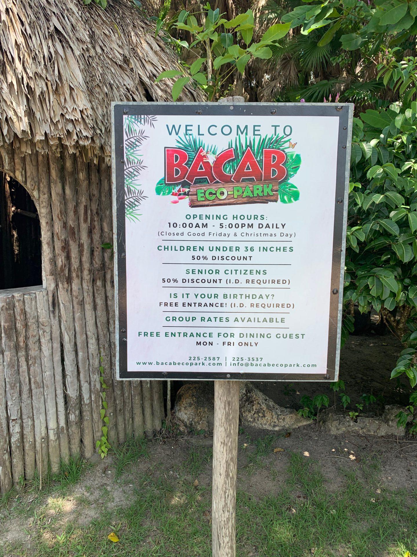 Bacab Eco Park, Belize City