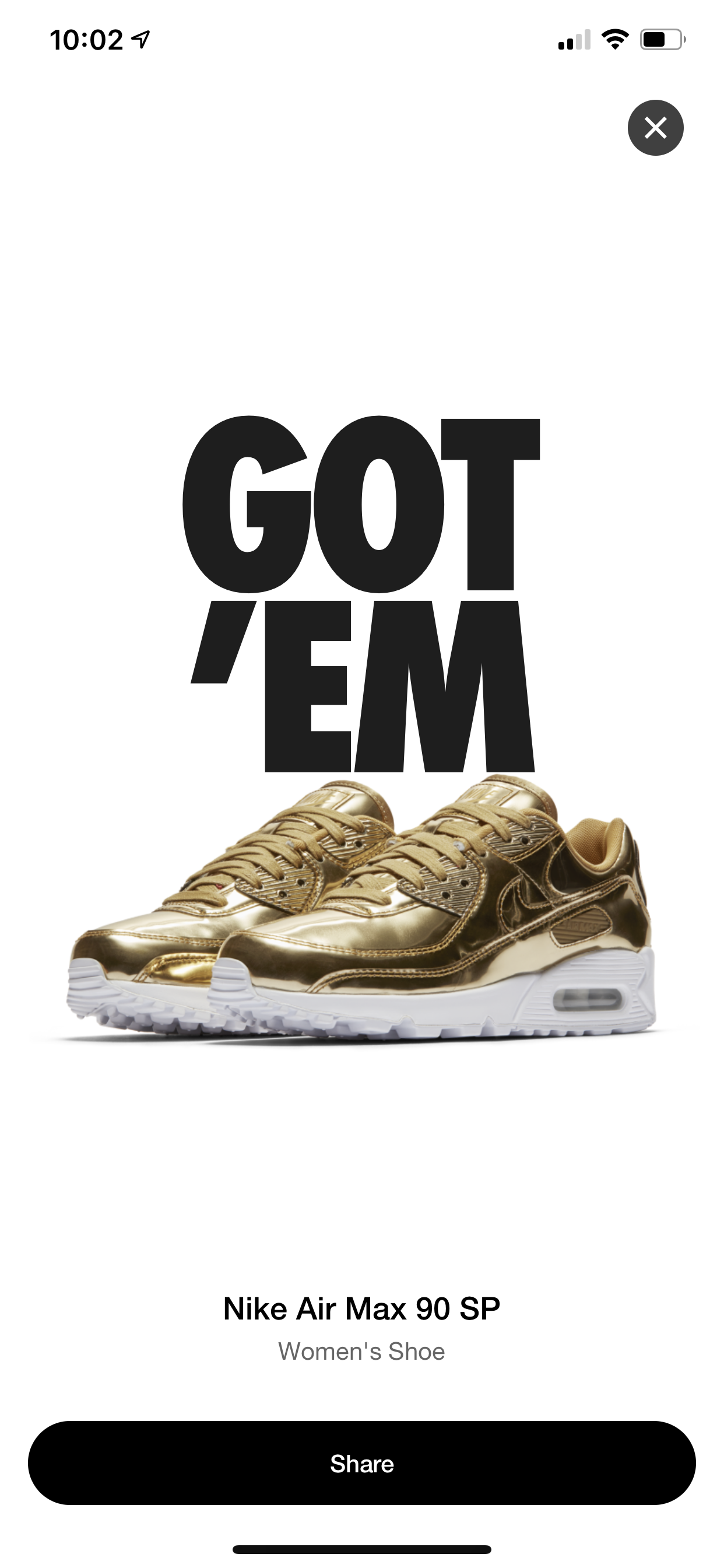 Air Max 90 SP Metallic Gold