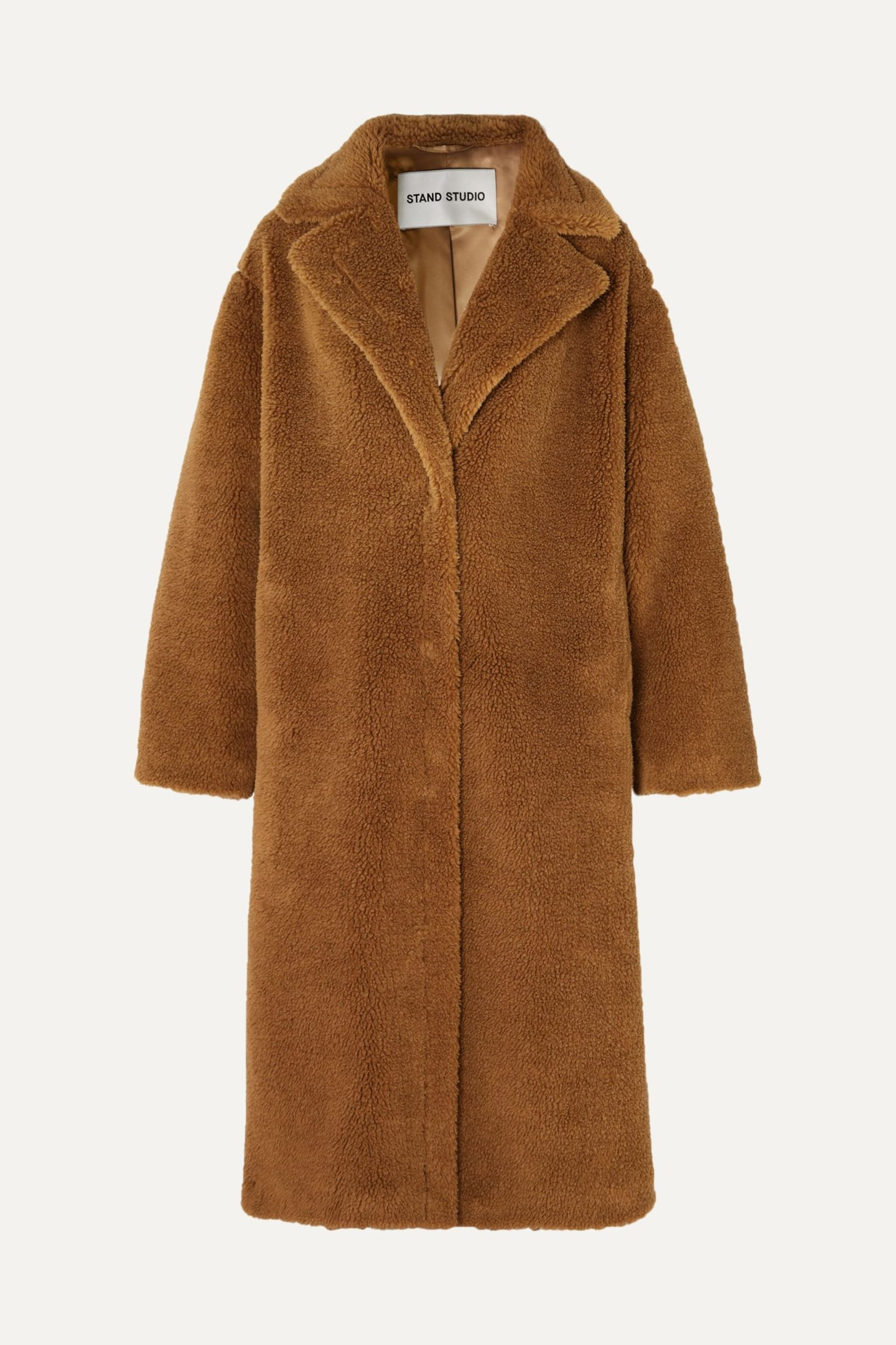 Stand Studio Mario Cocoon Faux Shearling Coat