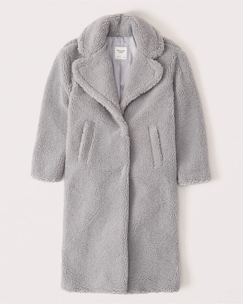 Abercrombie & Fitch Long Sherpa Coat