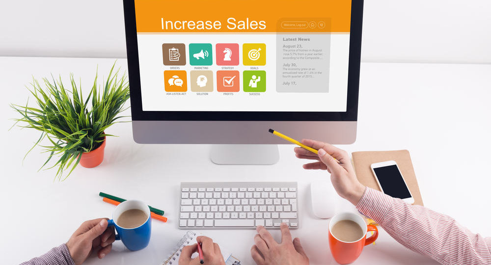 Increase Sales screen on the workplace