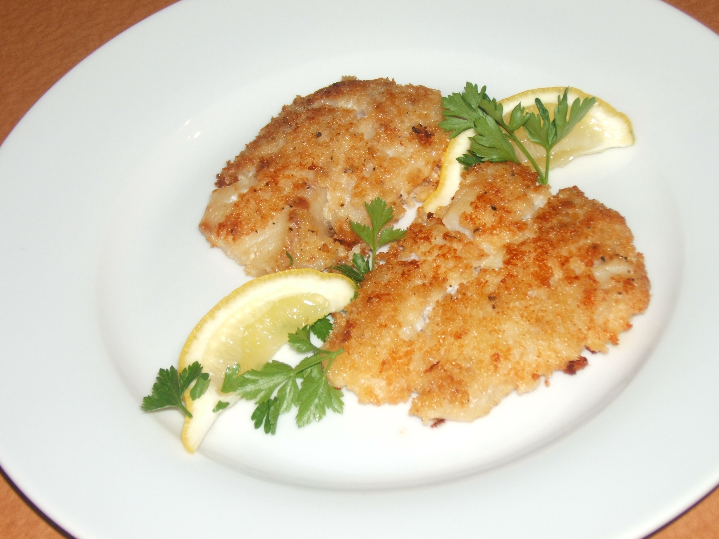 Mama Hogg's Marinated Halibut breaded in Panko
