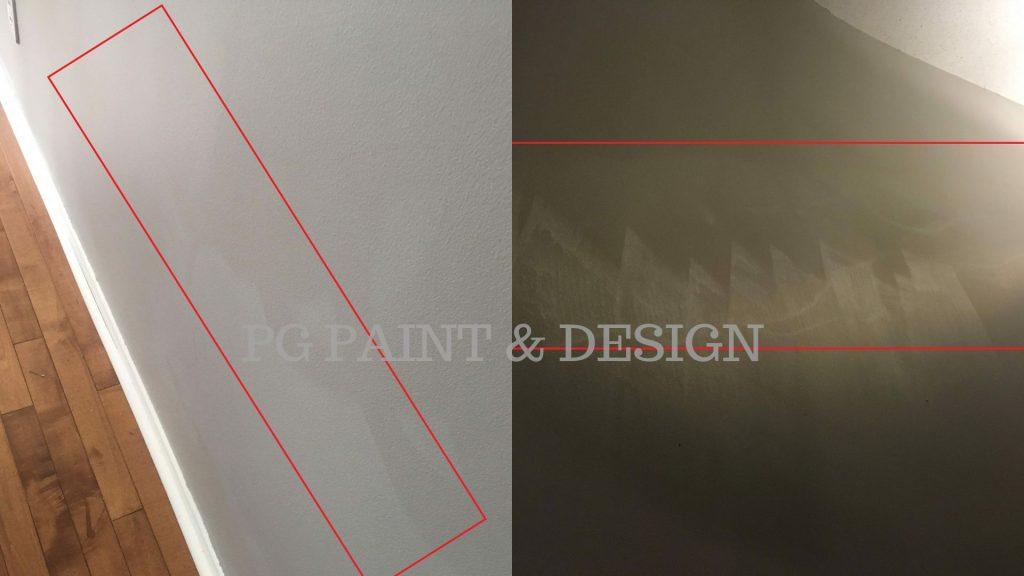 damage interior paint on walls from washing on flat paint finish