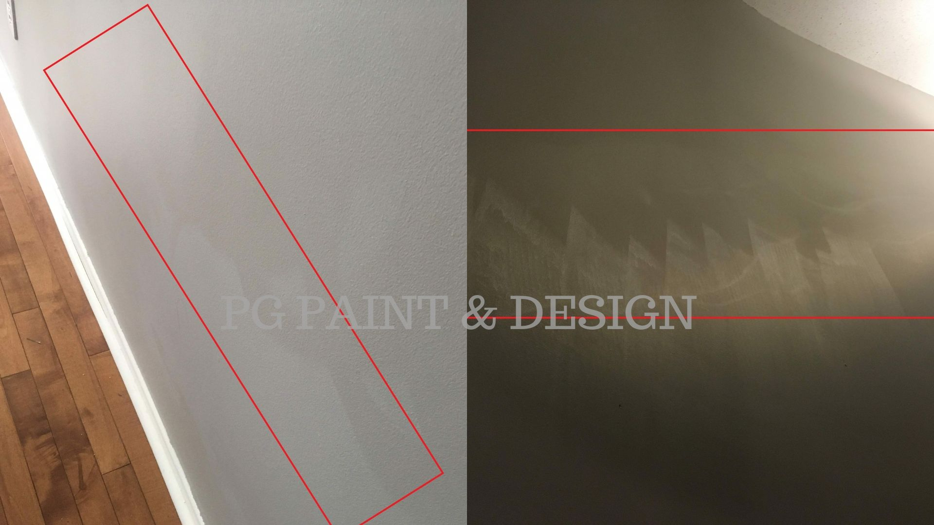 damage to flat paint finish on interior painting of walls