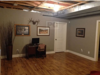 In this photo we painted the basement of a Stittsville area home