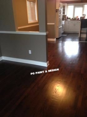 interior painting of living and dining room by PG PAINT & DESIGN painters in Ottawa