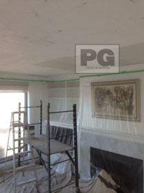 scraped and removal of stipple ceiling by PG PAINT & DESIGN Ottawa painters