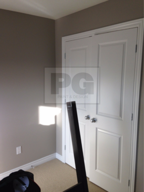 interior painting of a room with doors by PG PAINT & DESIGN painters