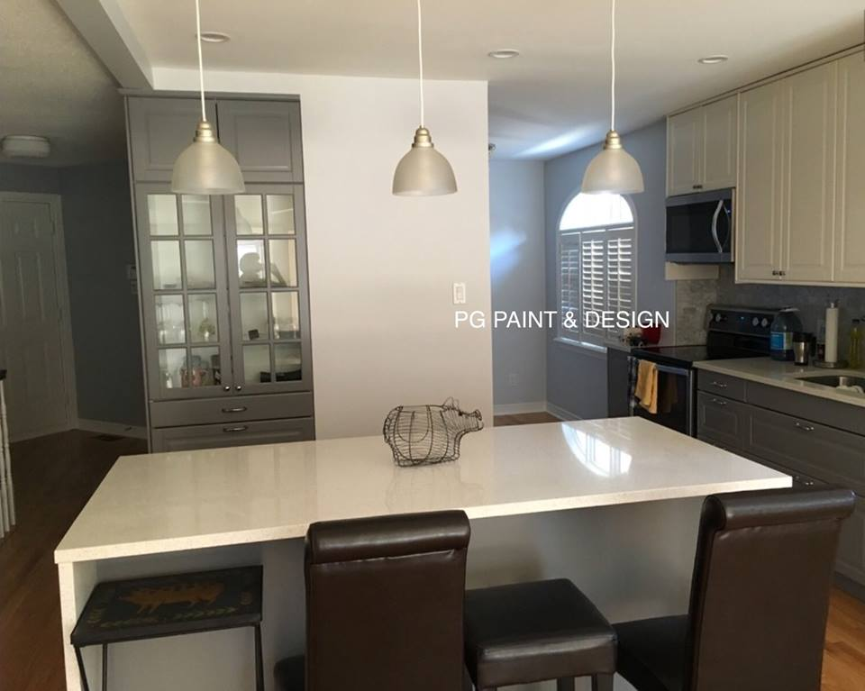interior painting of kitchen of a house in Ottawa by PG PAINT & DESIGN painters