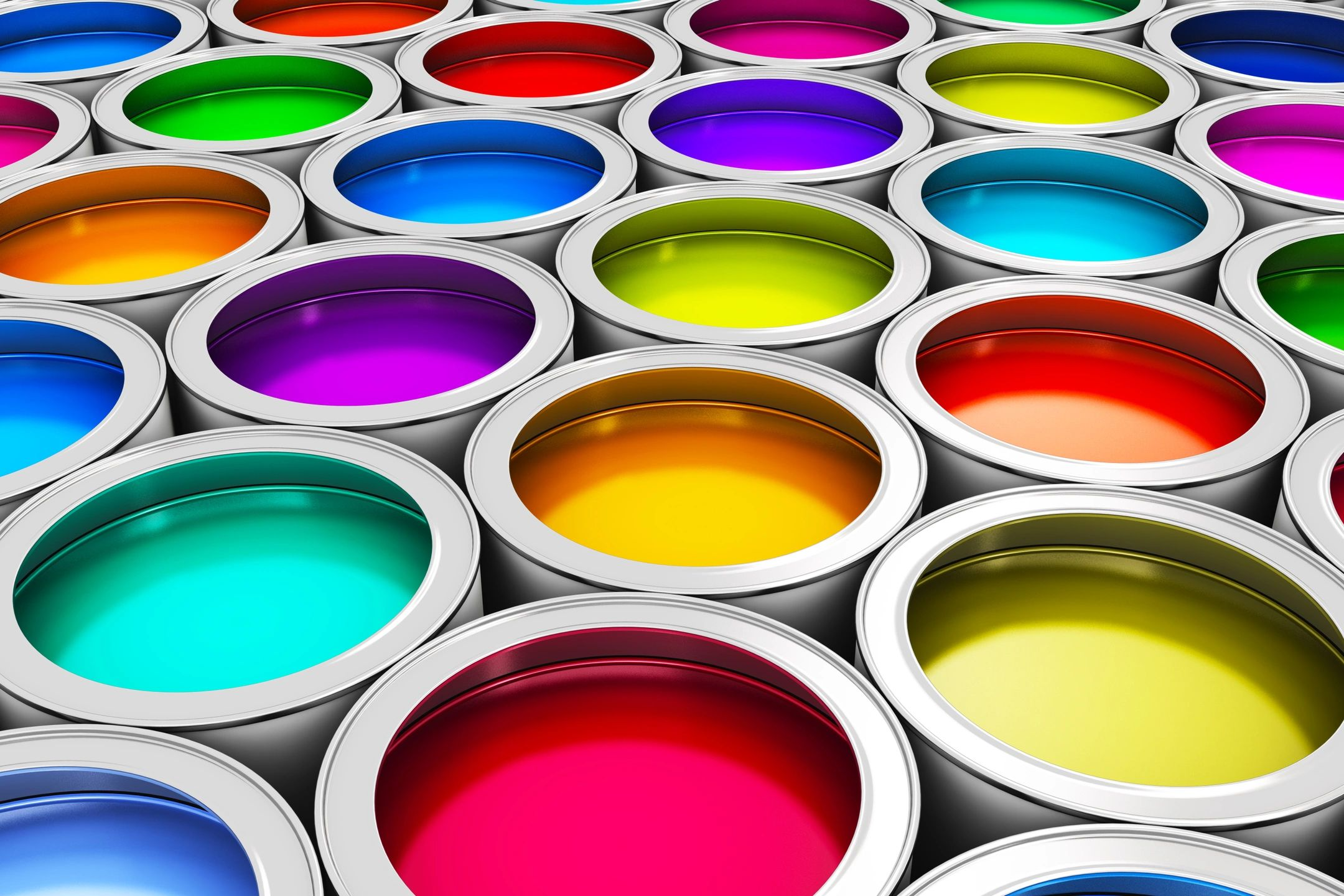 water based paint cans