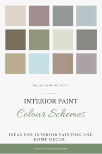 neutral paint guide for painting in blue gray pink brown green colours