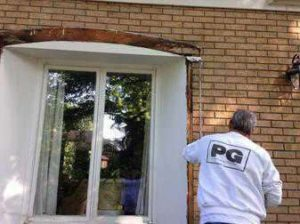 exterior window with replaced wood that had rotted replaced and painted by PG Paint & Design Ottawa House Painters