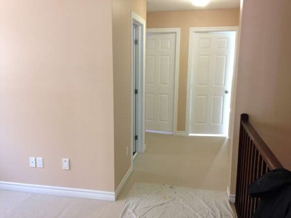 interior painting in neutral pink paint colour by Ottawa Painters PG PAINT & DESIGN