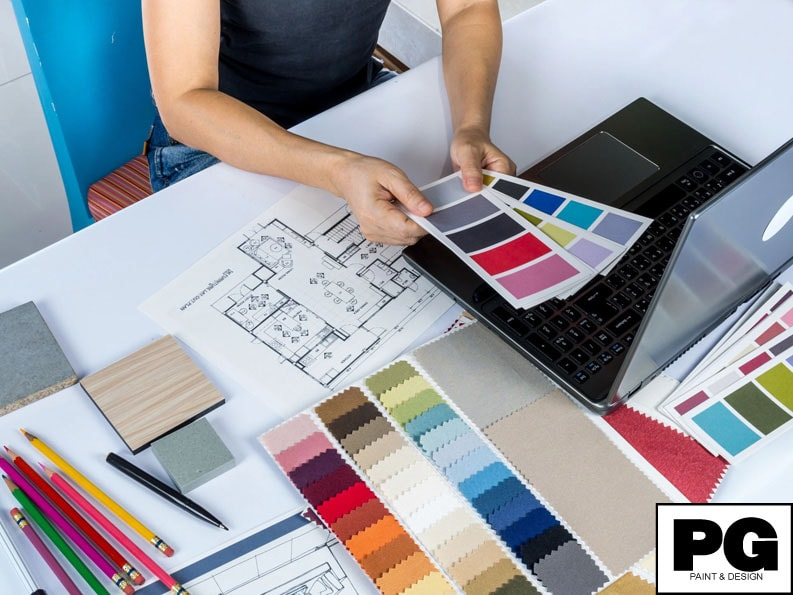 paint colour consultation with colour samples for interior and exterior painting by Ottawa painters PG PAINT & DESIGN