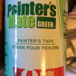 painter's tape used when by painters when painting a room or house