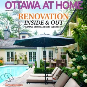 magazine cover of Ottawa at Home Magazine featuring PG Paint & Design Ottawa House Painters