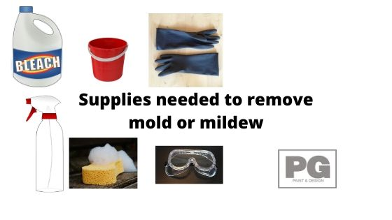 supplies to help remove mold or mildew