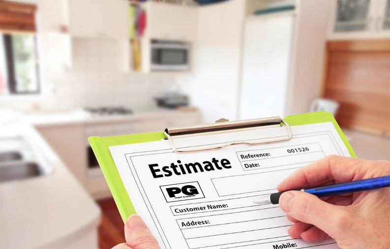 Painting Estimate Form from PG PAINT & DESIGN House Painters in Ottawa