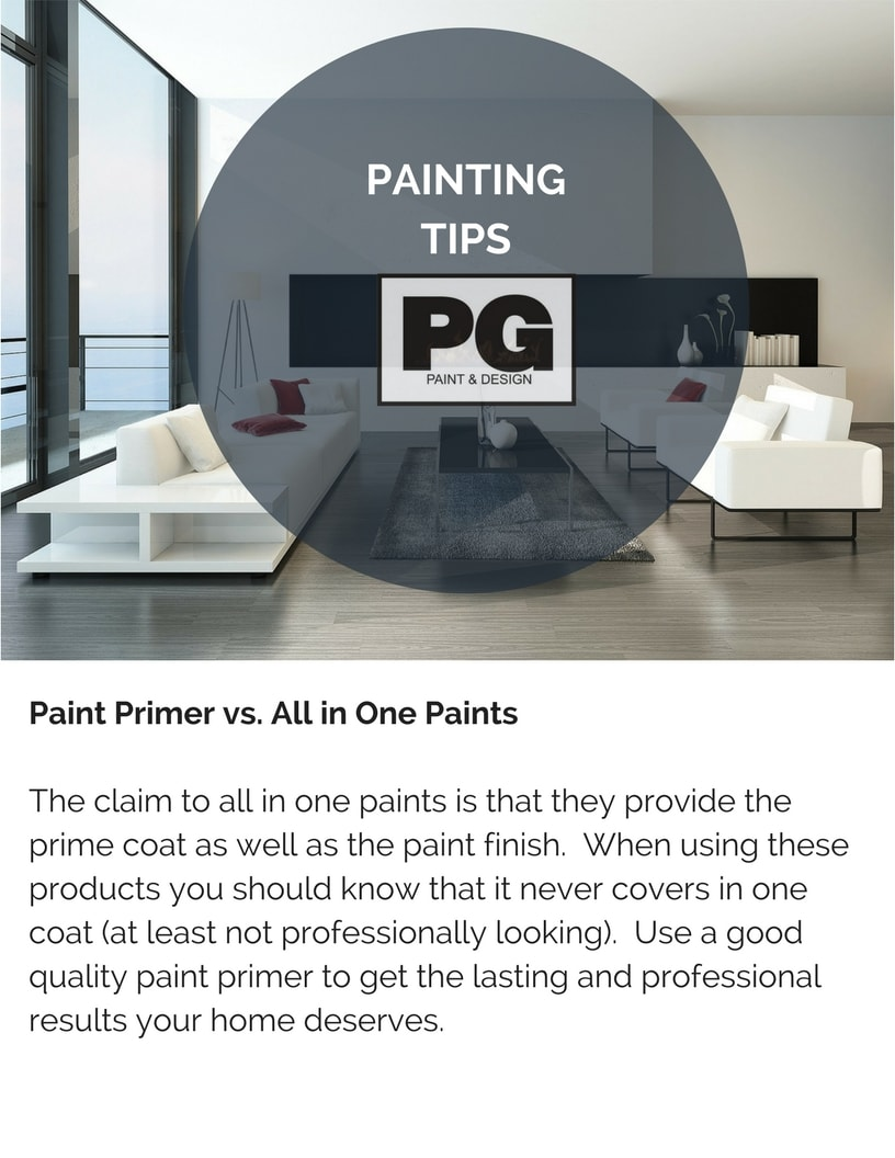 using paint primer vs all in one paints recommendations from PG Paint & Design Ottawa house painters