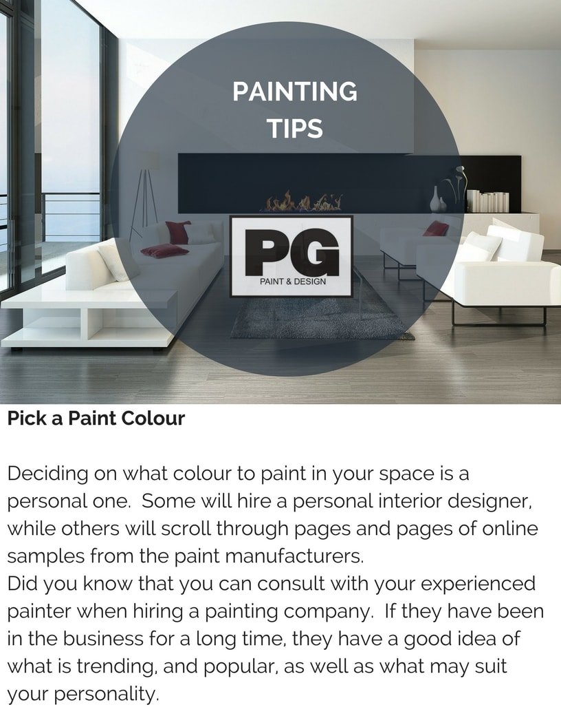 tips for choosing paint colours