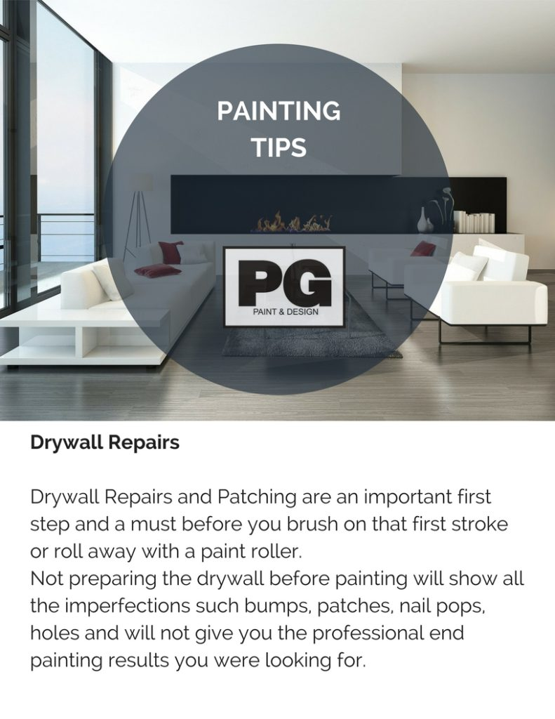 drywall and painting tips from PG PAINT & DESIGN Ottawa House Painters