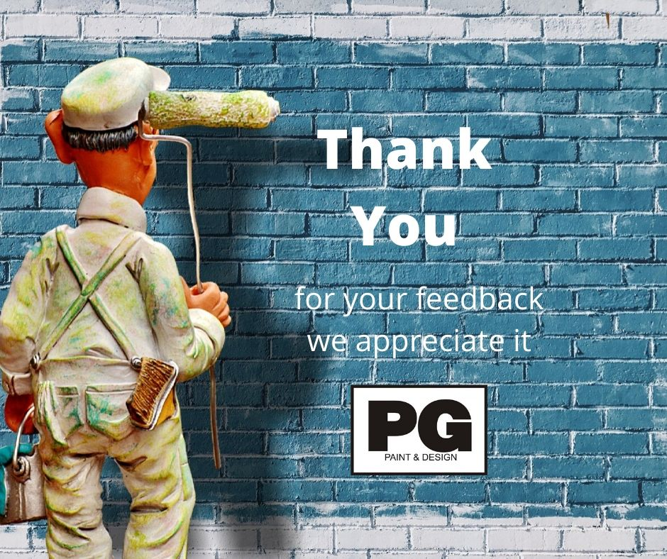 Thank you for feedback and review of Ottawa Painters PG PAINT & DESIGN