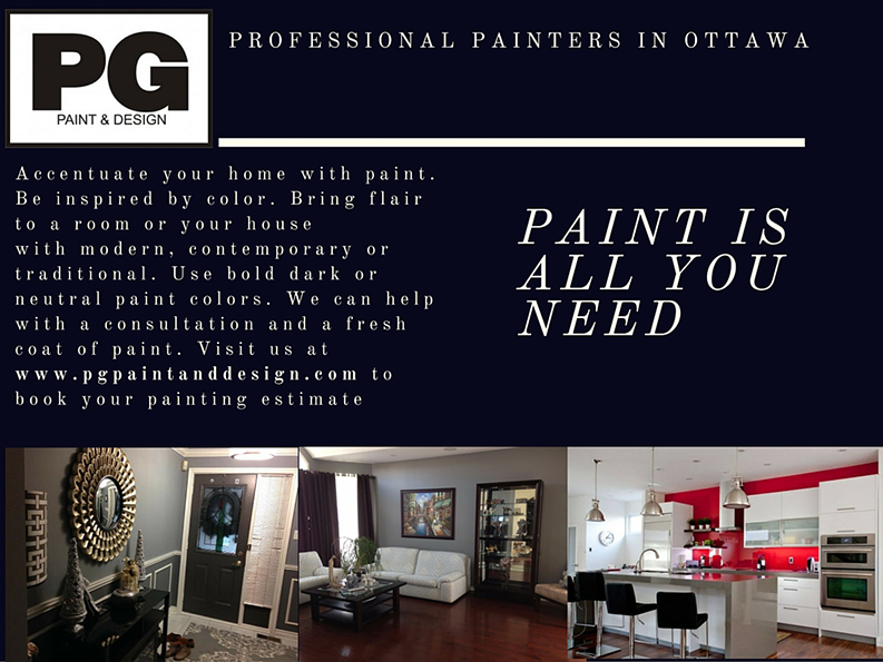 about PG PAINT & DESIGN professional painting company in Ontario Ottawa