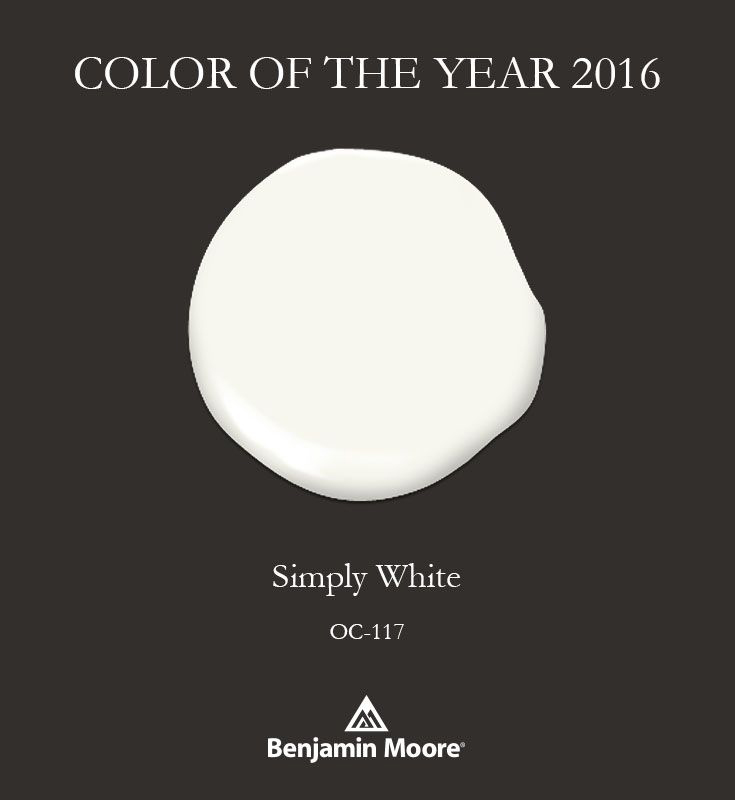 color of the year Simply White by Benjamin Moore
