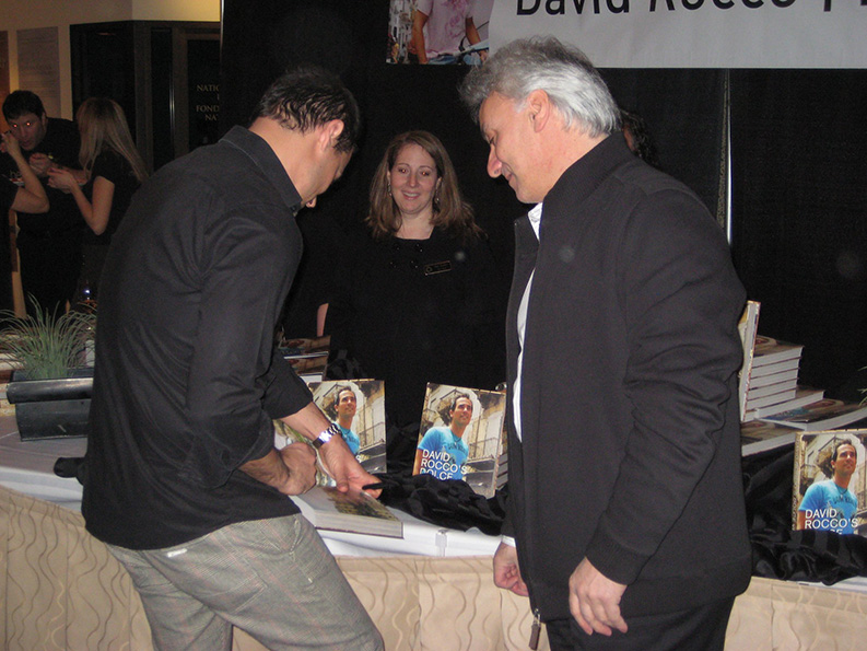 David Rocco sign PG PAINT & DESIGN cookbook January 2011